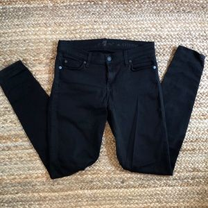 7 skinny jeans in black